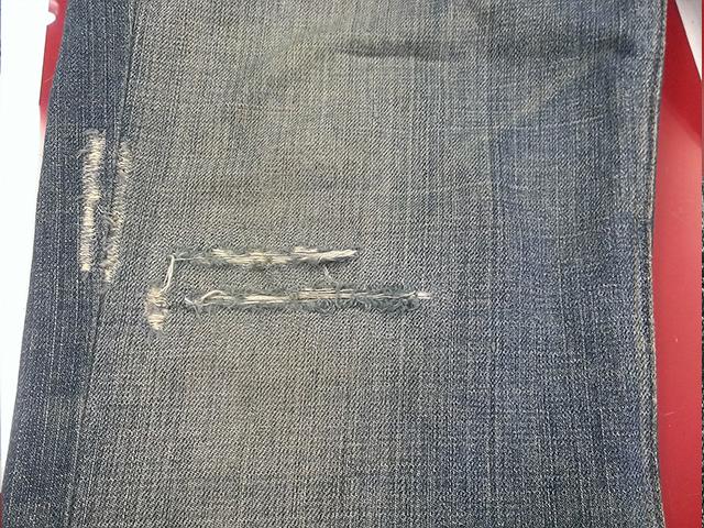 日の出クリーニングのジーンズ修理後